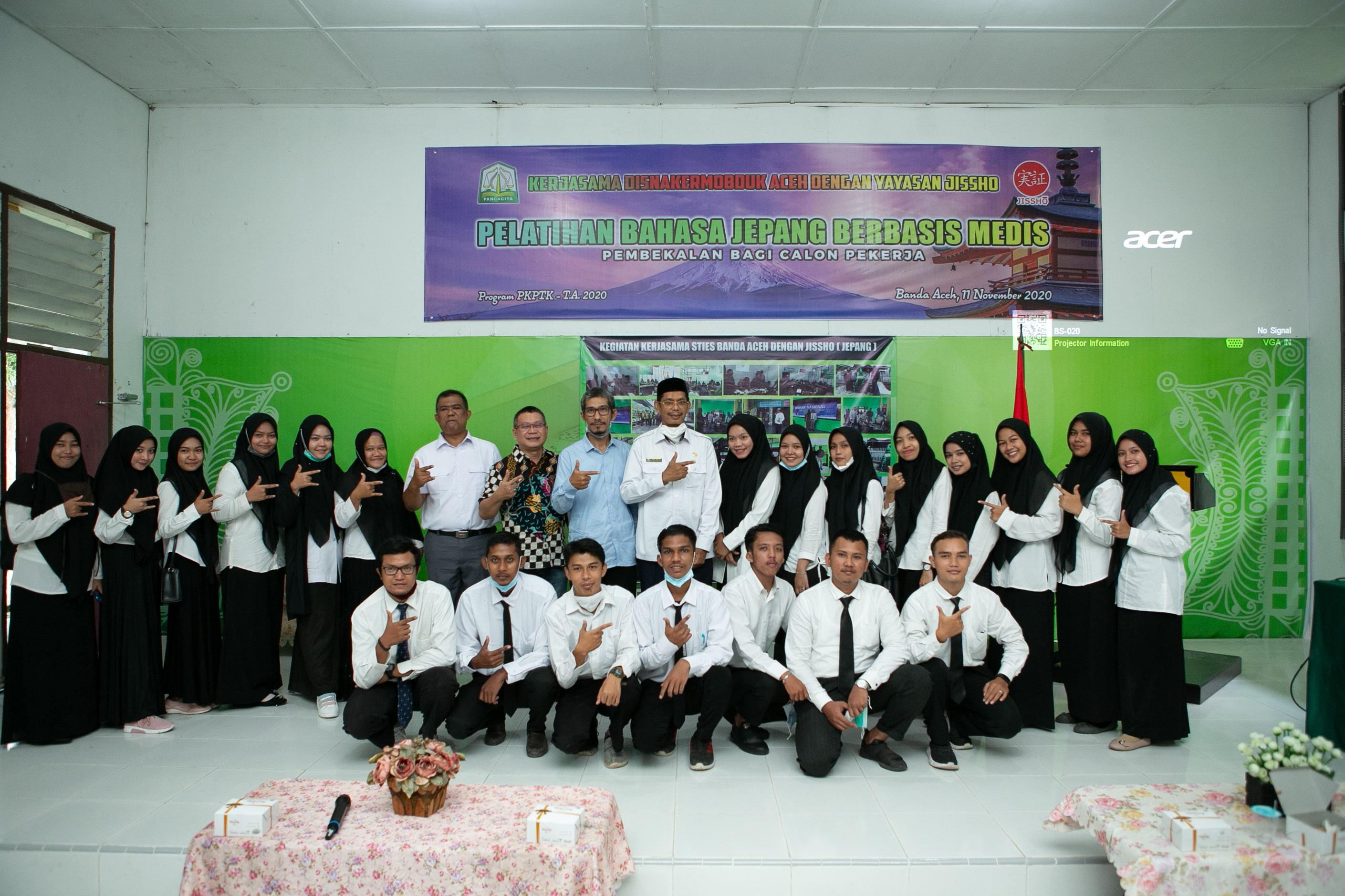 Disnaker Aceh dan Jissho Adakan Training di STIES