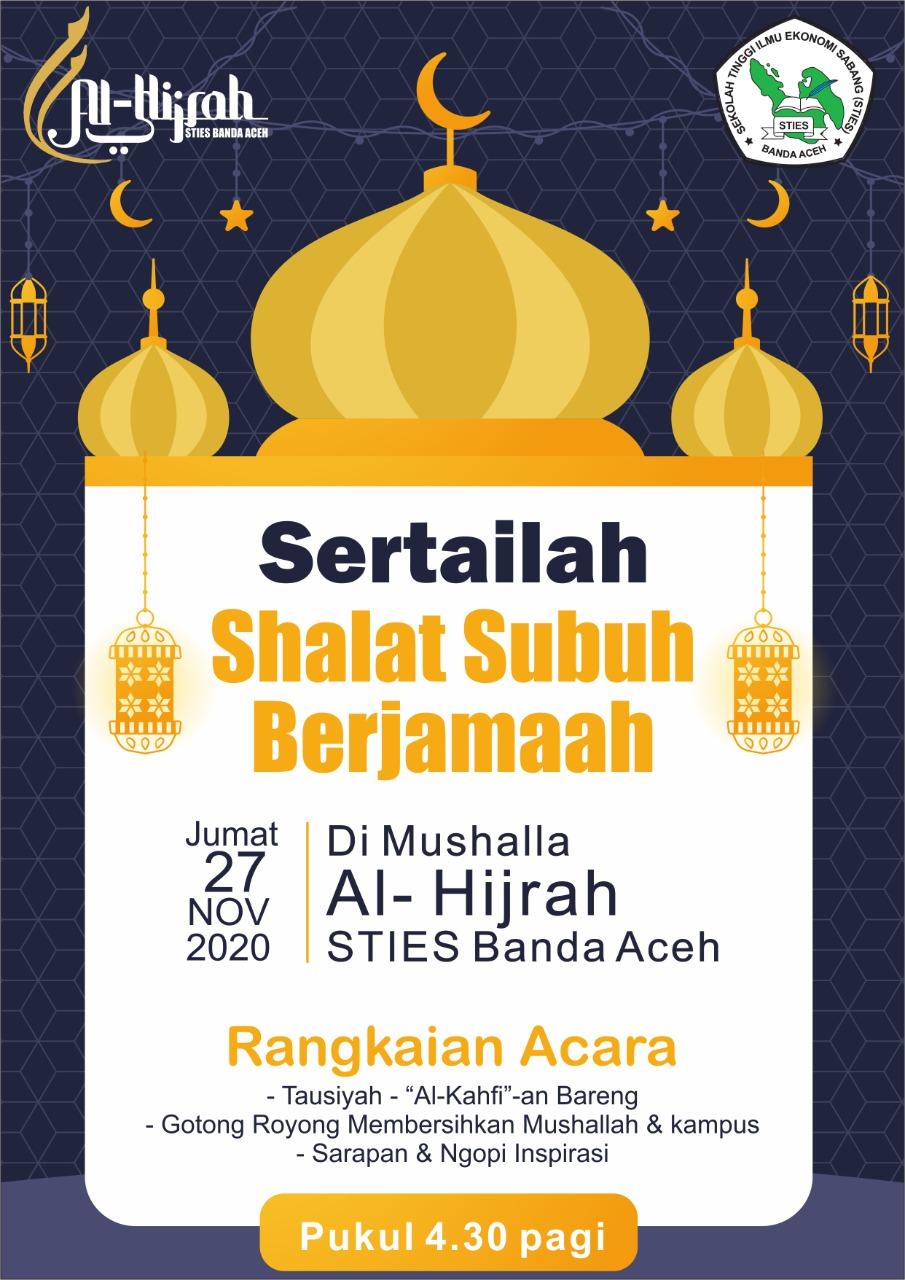 Undangan Shalat Shubuh Berjamaah STIES Banda Aceh